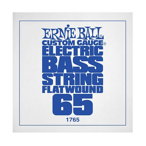 Ernie Ball Flatwound Electric Bass Single String - Long Scale .065