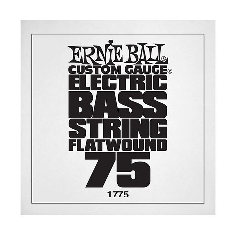 Ernie Ball Flatwound Electric Bass Single String - Long Scale .075