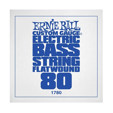 Ernie Ball Flatwound Electric Bass Single String - Long Scale .080