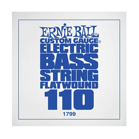 Ernie Ball Flatwound Electric Bass Single String - Long Scale .110