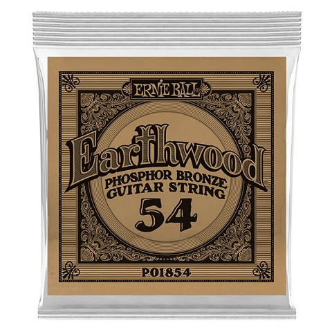 Ernie Ball Earthwood Phosphor Bronze Acoustic Guitar Single String .054