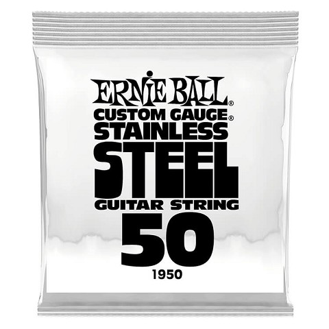 Ernie Ball Stainless Steel Wound Single Electric Guitar String .050