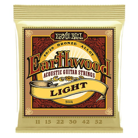 Ernie Ball Earthwood 80/20 Bronze Acoustic Guitar String Set - 11-52 Light 2004