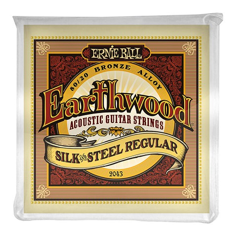 Ernie Ball Earthwood Silk and Steel 80/20 Bronze Acoustic Guitar String Set - 13-56 Regular 2043