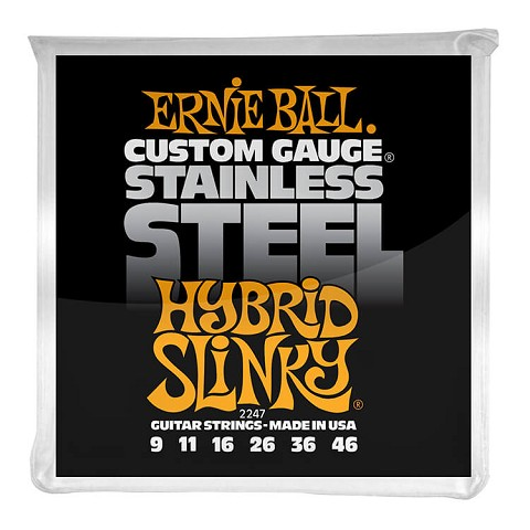 Ernie Ball Slinky Stainless Steel Wound Electric Guitar String Set - 09-46 Hybrid Slinky 2247