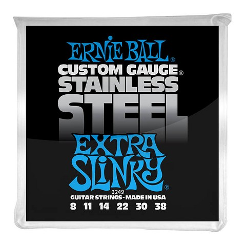 Ernie Ball Slinky Stainless Steel Wound Electric Guitar String Set - 08-38 Extra Slinky 2249