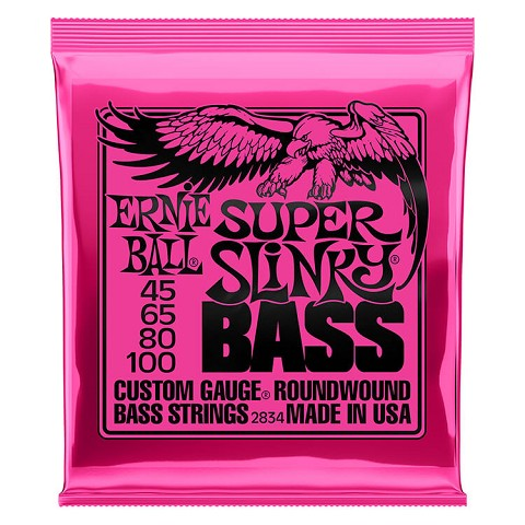 Ernie Ball Slinky Nickel Wound Bass Strings Long Scale - 4-String 45-100 Super Slinky 2834