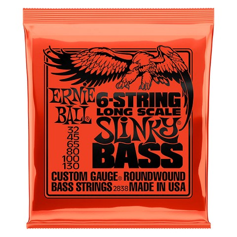Ernie Ball Slinky Nickel Wound Bass Strings Long Scale - 6-String 32-130 Slinky 2838