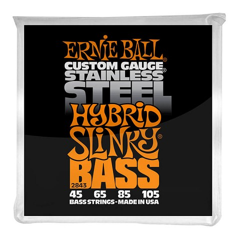Ernie Ball Slinky Stainless Steel Wound Bass Strings Long Scale - 4-String 45-105 Hybrid Slinky 2843