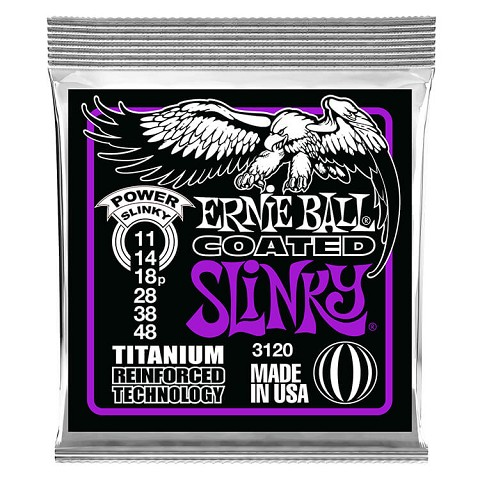 Ernie Ball Slinky RPS Coated Titanium RPS Electric Guitar String Set - 11-48 Power Slinky 3120