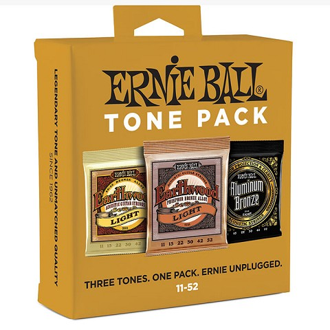 Ernie Ball Acoustic Guitar Tone Pack - 11-52 Light 3-Sets