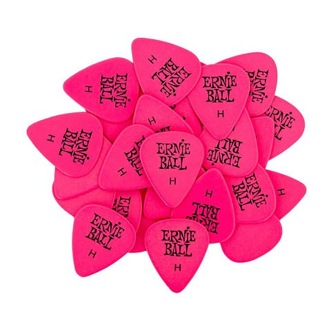 Ernie Ball Cellulose Guitar Picks - .94mm Heavy Pink bag of 144