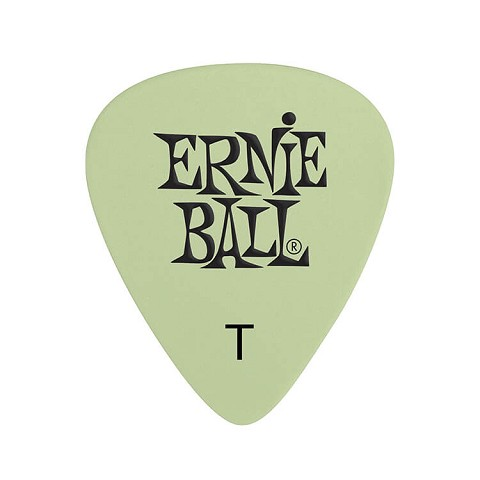 Ernie Ball Cellulose Guitar Picks - .46mm Thin Super Glow bag of 12