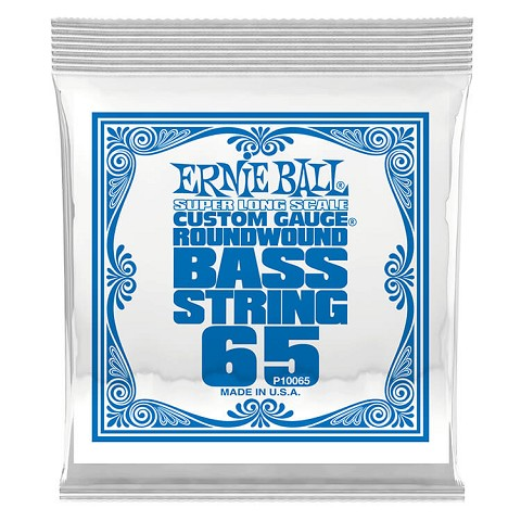 Ernie Ball Nickel Wound Slinky Electric Bass Single String - Super Long Scale .065
