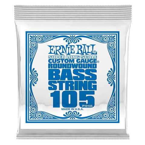 Ernie Ball Nickel Wound Slinky Electric Bass Single String - Super Long Scale .105