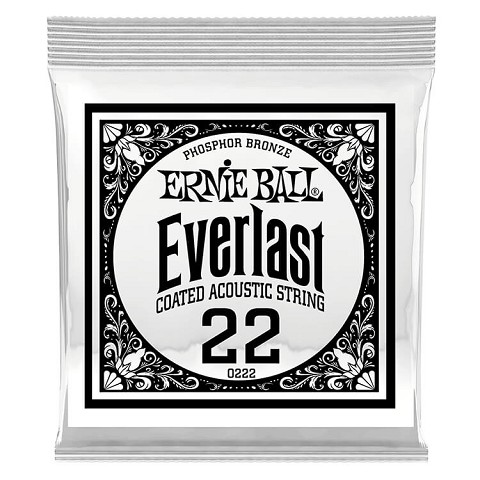 Ernie Ball Everlast Coated Phosphor Bronze Acoustic Guitar Single String .022w