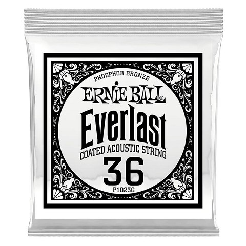Ernie Ball Everlast Coated Phosphor Bronze Acoustic Guitar Single String .036w