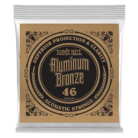 Ernie Ball Aluminum Bronze Acoustic Guitar Single String .046w