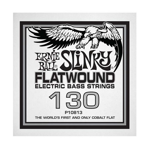 Ernie Ball Cobalt Flatwound Electric Bass Single String - Long Scale .130