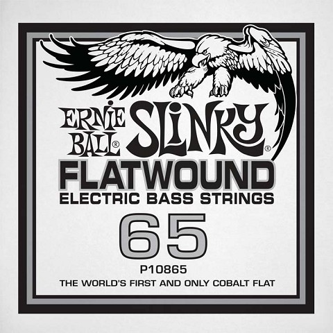 Ernie Ball Cobalt Flatwound Electric Bass Single String - Long Scale .065