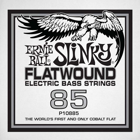 Ernie Ball Cobalt Flatwound Electric Bass Single String - Long Scale .085
