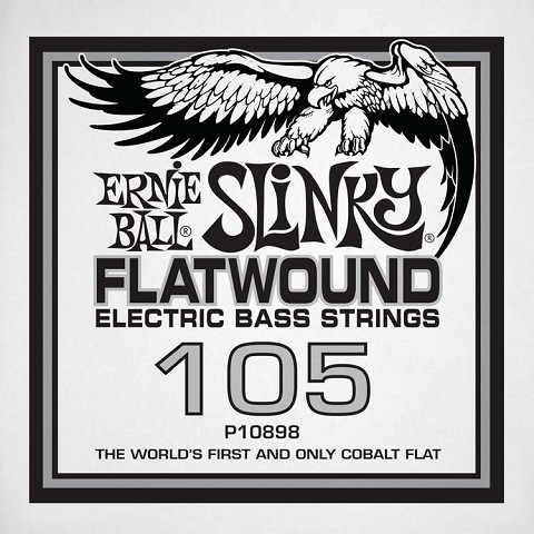 Ernie Ball Cobalt Flatwound Electric Bass Single String - Long Scale .105
