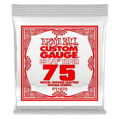 Ernie Ball Nickel Wound Single Electric Guitar String Long Scale .075w