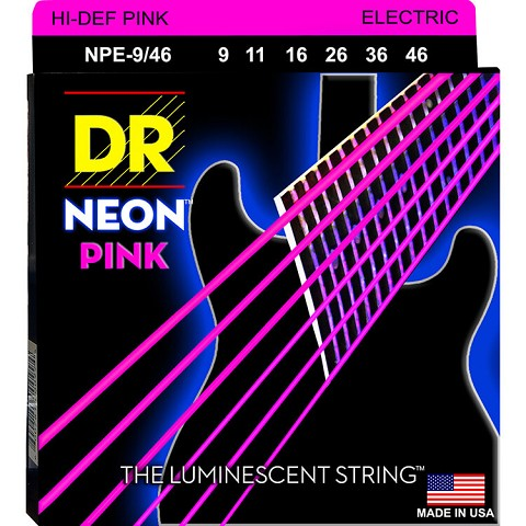 DR Neon Pink K3 Coated Electric Guitar String Set - 09-46 Light-Heavy NPE-9/46