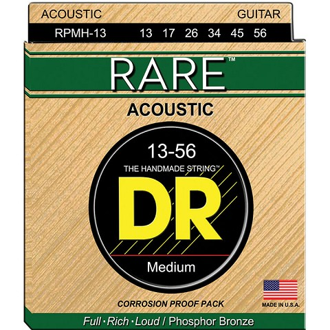 DR RARE Phosphor Bronze Acoustic Guitar String Set - 13-56 Medium RPMH-13
