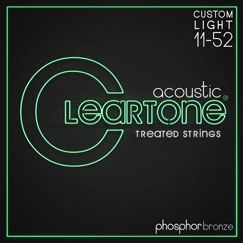 Cleartone EMP Treated Phosphor Bronze Acoustic Guitar String Set 11-52 Custom Light 7411