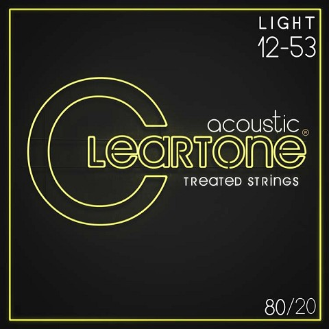 Cleartone EMP Treated 80/20 Bronze Acoustic Guitar String Set 12-53 Light 7612