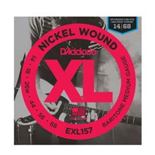 D'Addario XL Nickel Wound Electric Guitar String Set 14-68 Baritone Medium EXL157
