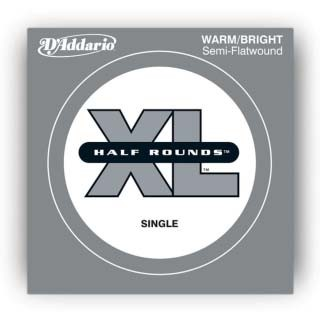 D'Addario XL Half Rounds Single String Medium Scale - .065