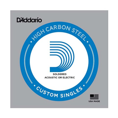 D'Addario Soldered Plain Steel Single Electric Guitar String .016p