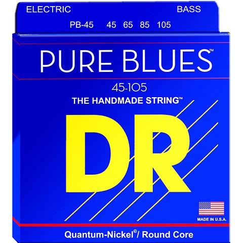 DR Pure Blues Quantum-Nickel Electric Bass Strings Long Scale Set - 4-String 45-105 Medium PB-45