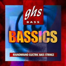 GHS Bassics Nickel Plated Steel Round Wound Electric Bass Strings Long Scale - 5-String 44-130 M6000-5