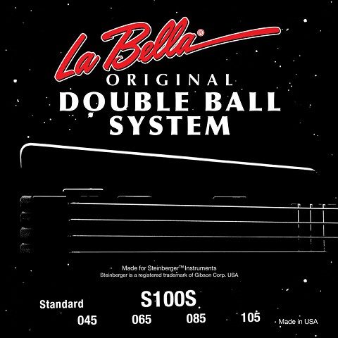 La Bella Double Ball End Stainless Steel Round Wound - 4-String 45-105