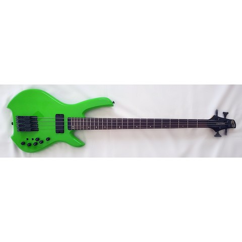 Willcox Guitars Powered by Lightwave Systems Saber Hybrid Bass w/ HexFX 4-String Lime Green
